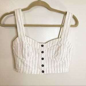 Free People Button Crop Top